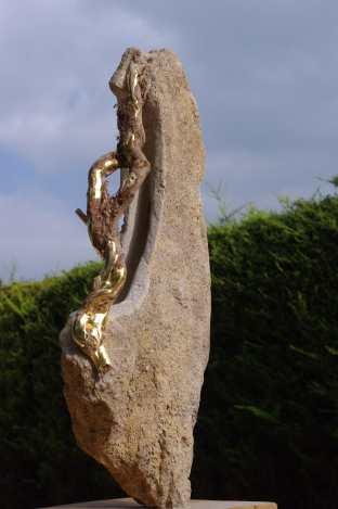 Gilded wood, bath stone. Unique, POA.